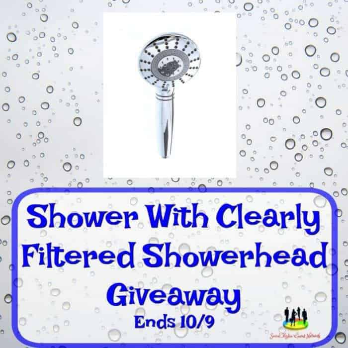 Clearly Filtered Handheld Chrome Shower Head