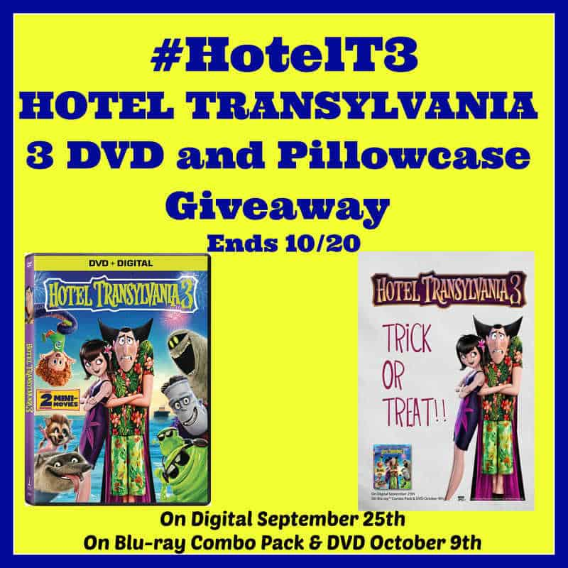 HOTEL TRANSYLVANIA 3 DVD And Pillowcase Giveaway