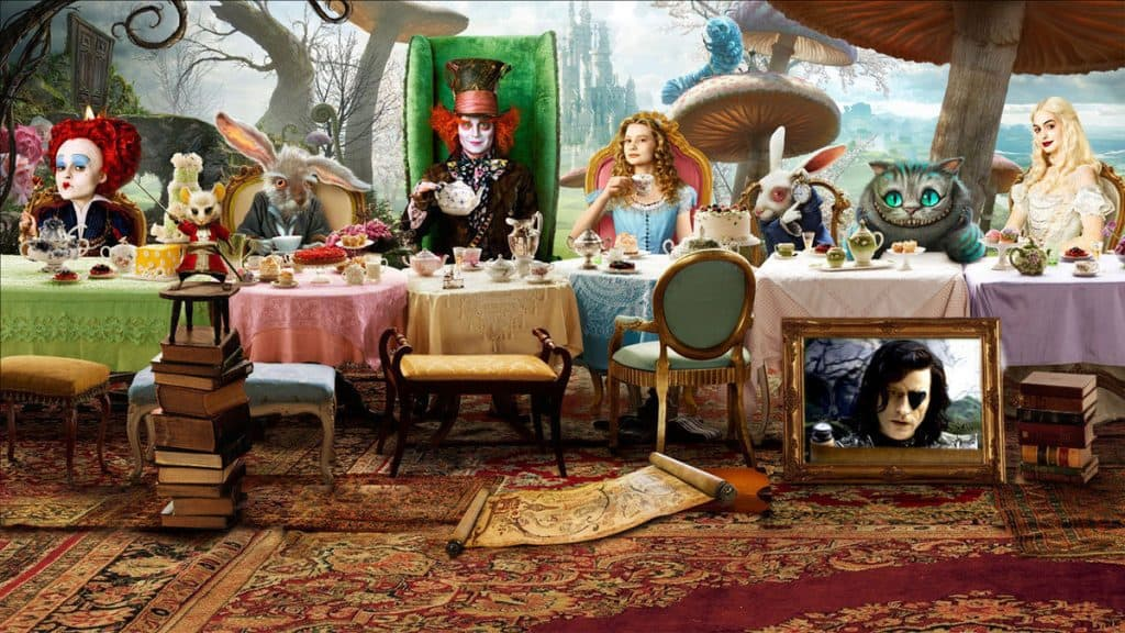 Alice in Wonderland 2010 movie on Freeform Night of Halloween