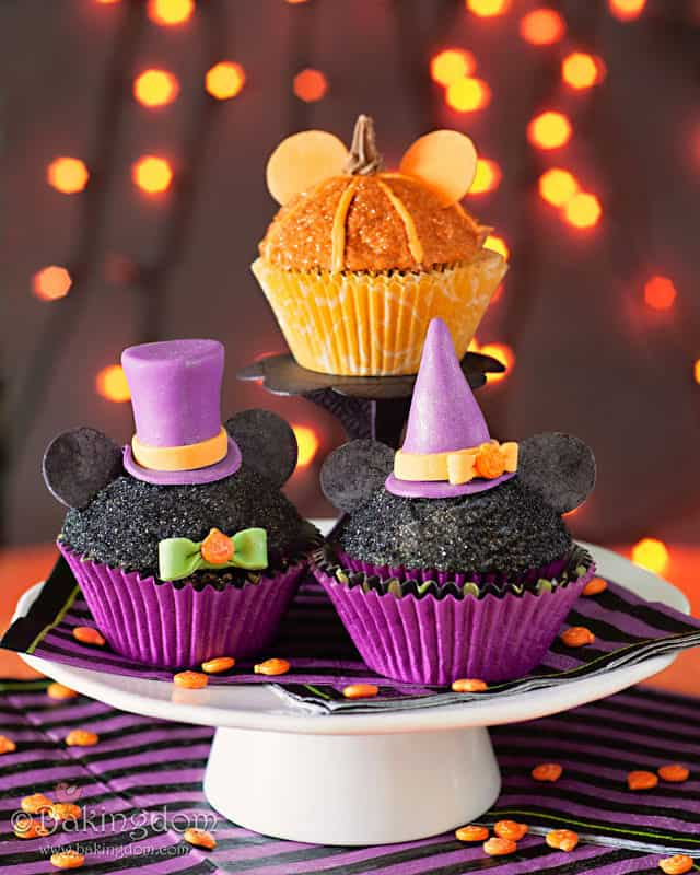 Mickey's Not So Scary Halloween Party Cupcakes with Jack-O-Lantern Pumpkins