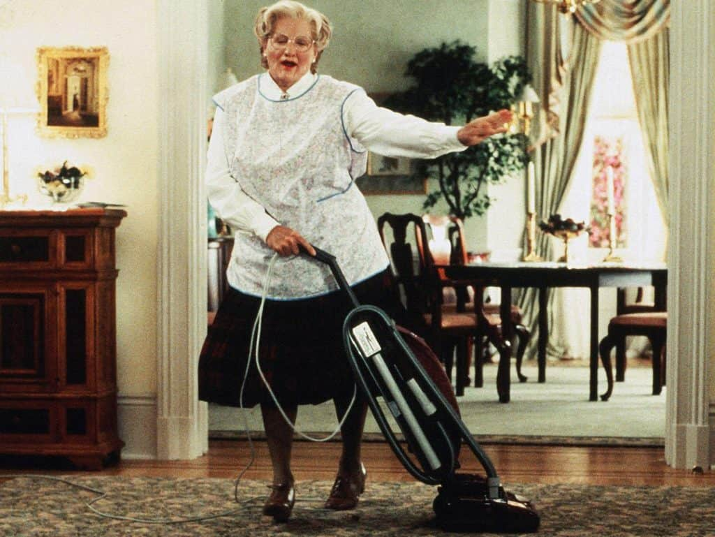 Mrs Doubtfire movie on Freeform Night of Halloween