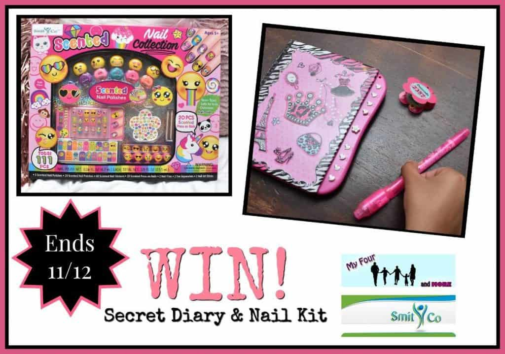 My Four and More's SmitCo Secret Diary and Nail Kit Giveaway