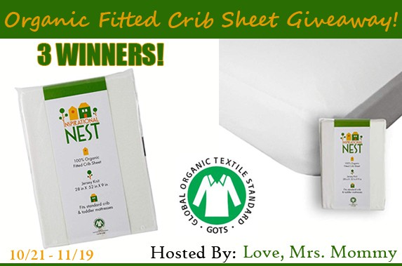 NEST Organic Fitted Crib Sheet!
