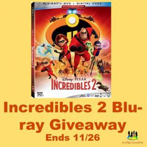 Disney Pixar INCREDIBLES 2 Blu-ray DVD Digital Code