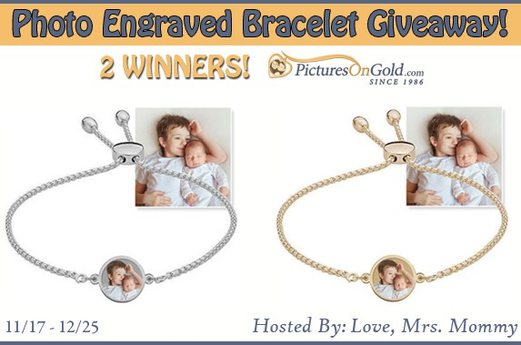 Photo Engraved Bracelet from PicturesOnGold.com Giveaway