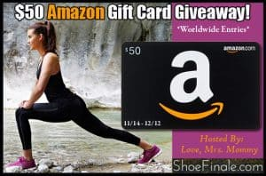 Shoe Finale $50 Amazon Gift Card Giveaway