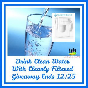 Clearly Filtered Water Filter Pitcher + Three Replacement Filters, Water Filtration System Removes Chlorine, Lead, Mercury, Chromium 6, Fluoride, Arsenic